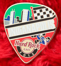 Hard Rock Cafe Pin Indianapolis Postcard GUITAR PICK LE100 series race car flag