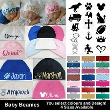 Baby Beanie Hat Personalised Cap Newborn -12 months baby shower gift custom name