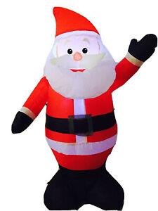 3 Ft 6 LED Lighted santa Airblow Inflatable Christmas Yard Decor
