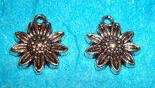 Pendant Flower Charms Sunflower Charms Gardening Charm Flower Garden Fall Flower