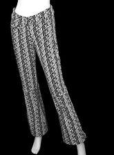 Obermeyer Softshell Printed Bond Stretch Ski Pants Black & White Geo Print Sz 6