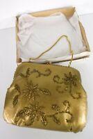 Vintage John Wind Evening Clutch Purse Gold Beaded Chain Hong Kong