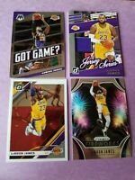 LEBRON JAMES JERSEY card +2019-20 Prizm Fireworks Insert + OPTIC MOSAIC GOT GAME