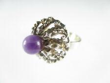 Designer Ring 835 Silber Amethyst Edelstein Modernist Vintage silver ring