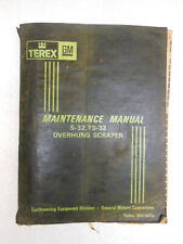 Euclid GM S-32 & TS-32 Tractor & Scraper MAINTENANCE Repair MANUAL 1969