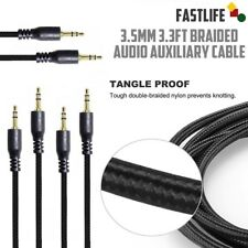 3-pack 3.3Ft 3.5mm Auxiliary Aux M to M Stereo Audio Cable Cord iPod Car Mp3 Pc