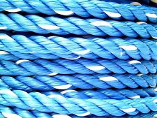 "1/2"" x 45' Twisted BLUE/WHITE Polypropylene Rope Heavy DUTY 312 WLL LINE BOAT"