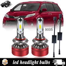 2x 9005 6000LM LED Headlight Bulb Kit For Toyota Sienna Camry Corolla Highlander