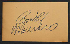 Rocky Marciano Autograph Reprint On Old 3x5 Card