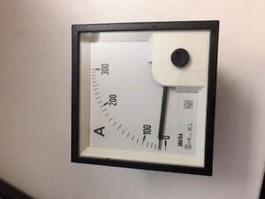 IME AMMETER 90 deg SCALE RQ72E/0-300A 72x72mm