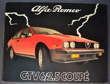 1982 Alfa Romeo GTV 6/2.5 Coupe Sales Brochure Folder Excellent Original 82