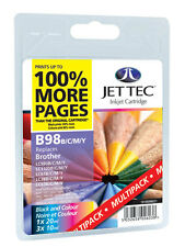 12 x LC38 LC67 Jet Tec  Premium UK Inkjet Cartridges fits Brother + Free Paper
