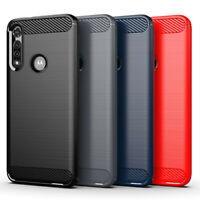 For Moto E4 E5 E6 Plus Play E7 G G5 G6 G7 G8 Plus Power Carbon Fiber Case Cover
