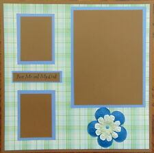 12X12 JUST ME & MY DAD PREMADE SCRAPBOOK PAGE LAYOUT MSND - TONYA