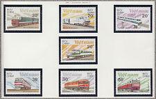 VIETNAM N°862/868** TRAINS LOCOMOTIVES,1988 Vietnam 1893-1899 MNH