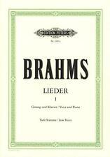 Brahms Johannes: Lieder 1. Gesang Tief, Klavier Musiknoten 3201C - 9790014014933