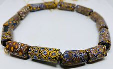 """Rare Victorian c. 1850 West African """"Earthly Eye� Matched Millefiori Trade Beads"""