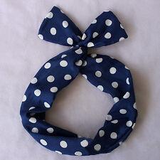 Flower Bunny Rabbit Ear Ribbon Wire Headband Scarf Tie Bow Hair Head Wrap Band*