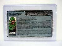 GI JOE MAJOR ALTITUDE FILE CARD Vintage Action Figure UNCUT / AWESOME SHAPE 1991