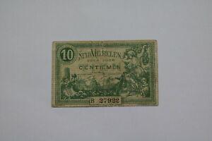 BANKNOTE BELGIUM 10 CENTIMES 1918 MECHELEN B21 BEL19