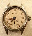 Bulova+Military+Wristwatch+Parts+Lot+10AK+White+Dial