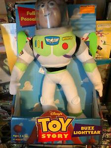 Disney Toy Story Poseable Plush Rare Buzz Lightyear Hasbro 1996