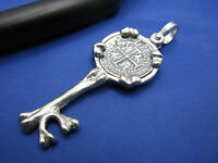 .925 Sterling Silver Skeleton Bone Lighthouse Pirate Key Shipwreck Coin Pendant