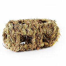 Natural Woven Straw Dried Grass Hay Log 19cm - Pet Rabbit Guinea Pig Chew Toy