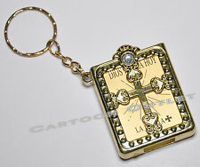 36 PC REAL MINI BIBLES KEY CHAINS RINGS GOLD SPANISH BAPTISM COMUNION FAVORS