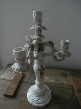 Splendido candelabro candeliere ceramica Bassano h 40 cm antico e raro