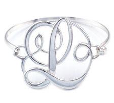 Monogram Style English Alphabet Letter Initial L Bangle Bracelet Women Jewelry