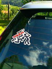 do not touch my car finger weg sticker nix export decal shocker haters static 55