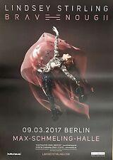 LINDSEY STIRLING  2017  BERLIN   + orig.Concert Poster -- Konzert Plakat  DIN A1