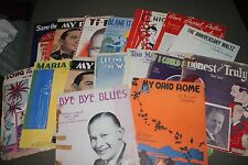 Lot 16 Vintage Pieces Sheet Music Elena Waltz Polka My Dear Chiquita Blues & Mor