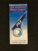 PAN AM AIRLINES SYSTEM TIMETABLE BROCHURE 1950 Clipper Boeing 377 Stratocruiser