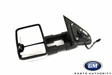 15-17 Silverado Sierra LH Chrome Power Folding Camper Tow Mirror 23351794 OEM GM