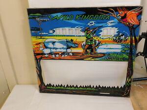 1970s Midway Wild Kingdom backglass Gun Rifle Game