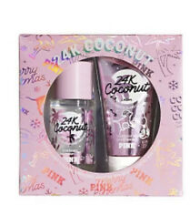 VICTORIA'S SECRET PINK 24K Coconut Gift Set Perfume Mist Spray & Body Lotion NEW