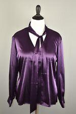 CHICO'S NEW $79 Purple Silky Spendor Tie Neck Blouse 3 / XL