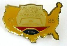 1985 A.P.B.A. / U.R.C. SEASON PASS brooch pin pinback Hydroplane Boat racing b1