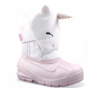 Cat & Jack Huxley Unicorn Toddler Girls ThermoLite Pink & White Snow Boots NEW