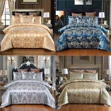 3pcs/set Jacquard Bedding Set Silk Duvet Quilt Cover Set Single Double King Size