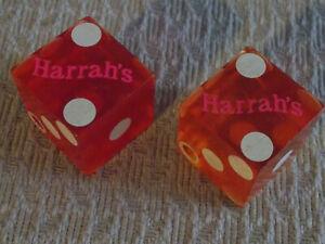 HARRAH'S HOTEL CASINO VINTAGE red DICE