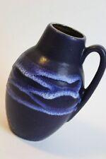 !! Scheurich 414-16 VASE modernist 1960s fat lava VINTAGE WGP blue  !!