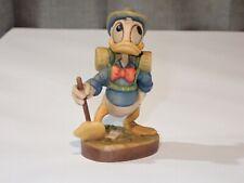 "Anri Disney Vintage Wood 4"" Donald Duck Hiking #676"