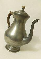 Vintage Daalderop Royal Holland Pewter Coffee Pot Kettle Wood Handle