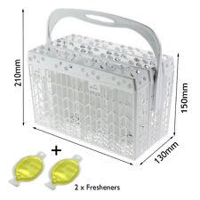 Universal Slimline Cutlery Basket for Dishwashers 225mm x 150mm + Air Freshener