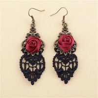 1x New Fashion Aestheticism Gothic Victorian Retro Lace Vintage Pendant-Earrings