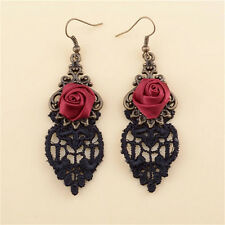 New Fashion Aestheticism Gothic Victorian Retro Lace Vintage Pendant Earrings EF