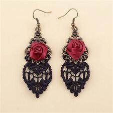 New Fashion Aestheticism Gothic Victorian Retro Lace Vintage Pendant Earrings SE
